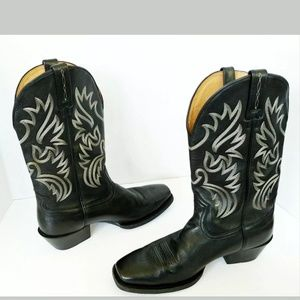 ARIAT Legend Black Deertan Leather cowboy boots 12